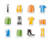 Man fashion and clothes icons — Stock Vector