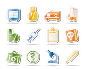Medisch en gezondheidszorg pictogrammen — Stockvector