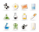 Chemistry industry icons — Stock Vector
