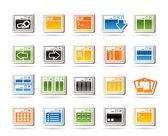 Application, Programming, Server and computer icons — Stock Vector