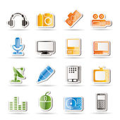 Mediální zařízení ikony — Stock vektor