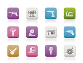 Building and Construction Tools icons — Vector de stock