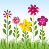 Streszczenie tło z trawy — Wektor stockowy