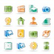 Internet, Computer and mobile phone icons — Imagen vectorial