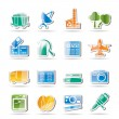 Business and industry icons - Stock Vector