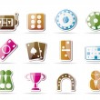 Gambling and casino Icons  — Stock Vector