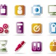 Computer and mobile phone elements icon — Stock Vector