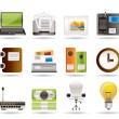 Business and office icons — Stockvektor