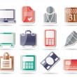 Business and office icons — Imagen vectorial