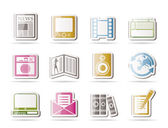 Media and information icons — Stock Vector