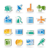 Business and industry icons — Stockvektor