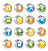 Simple Ecology and Recycling icons — Stock Vector