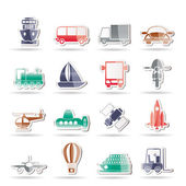 Transportation, travel and shipment icons — Stock Vector