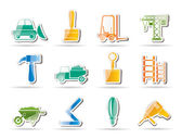 Building and Construction equipment icons — ストックベクタ
