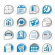 Simple Business and Office  Internet Icons - Stock Vector