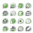 Simple Business and Office Icons — Stock Vector
