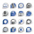 Internet and Website Icons - Image vectorielle