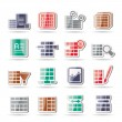 Royalty-Free Stock Vectorielle: Database and Table Formatting Icons