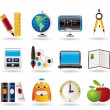 Stock Vector: School and education icons