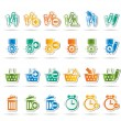 24 Business, office and website icons - Stock Vector