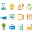 Stock Vector: Business and office icons