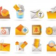 Stock Vector: E-mail and Message Icons