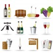 Stock Vector: Wine and drink Icons