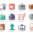 Stock Vector: Web Applications,Business and Office icons, Universal icons