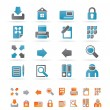Internet and Web Site Icons - Stock Vector