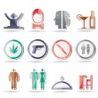 Bar and night club icons - Stockvectorbeeld
