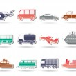 Travel and transportation icons — Stock Vector #5125723