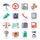 Business and Office internet Icons — Vector de stock