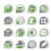 Iconos simples negocios y oficina — Vector de stock