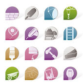 Construction and Building icons — Stock Vector