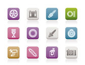 Car Parts and Services icons — 图库矢量图片