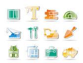 Icônes de matériau de construction — Vecteur