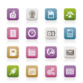 Phone Performance, Business and Office Icons — Stock Vector