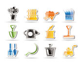 Garden and gardening tools icons — Stock Vector