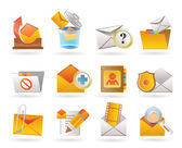 E-mail and Message Icons — Stock Vector