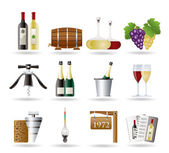 Wine and drink Icons — Vetor de Stock