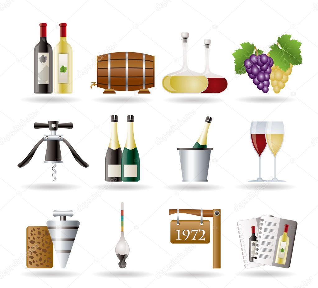 酒和饮料图标-矢量图标设置 — 矢量图片作者 stoyanh