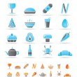 Shop, food and drink icons — Stock Vector #5142970
