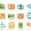 Simple Business and Office internet Icons — Stockvektor