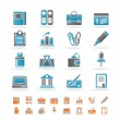 Business, Office and Finance Icons  — Stock Vector