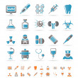 Healthcare, Medicine and hospital icons — Imagen vectorial