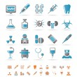 Stock Vector: Healthcare, Medicine and hospital icons