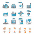 Royalty-Free Stock Vector Image: Different kind of insurance and risk icons