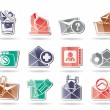 E-mail and Message Icons - Vettoriali Stock