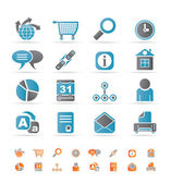 Web Site, Internet and computer Icons — Stock Vector