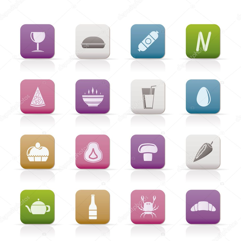 Shop, food and drink icons - vector icon set 2 — Stock Vector #5142989